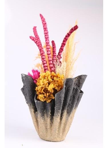 Kibrithane Çiçek Yapay Çiçek Dekoratif Saksı Kuru Çiçek Ortanca Aranjman Kc00200771 Renkli